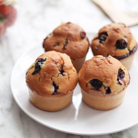Recette muffins aux myrtilles