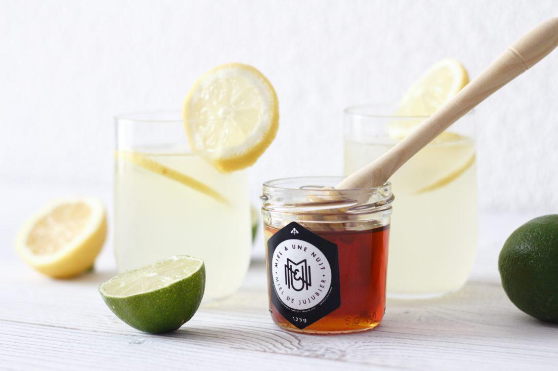 Citronnade maison au miel de Jujubier